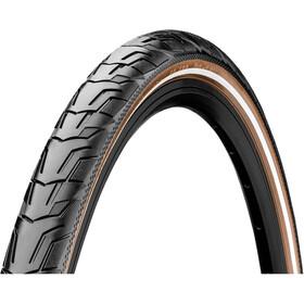 """Continental Ride City Clincher Tyre 28x1.40"""" Reflex E-25, black/brown"""